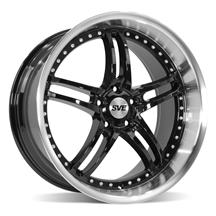 Mustang SVE Series 2 Wheel - 20x10 Gloss Black w/ Machined Lip (05-19)