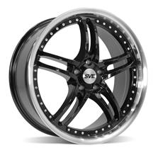 Mustang SVE Series 2 Wheel - 20x8.5 Gloss Black w/ Machined Lip (05-19)