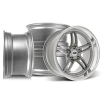 Mustang SVE Series 2 Wheel Kit -18x9/10 Gun Metal w/ Machined Lip (94-04)
