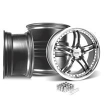 Mustang SVE Series 2 Wheel Kit - 19x9/10  - Gun Metal w/ Machined Lip (15-18)
