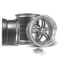 Mustang SVE Series 2 Wheel Kit - 20X8.5/10 Gun Metal w/ Machined Lip (05-14)