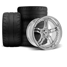 Mustang SVE Series 2 Wheel & Tire Kit - 18x9/10 Chrome (94-04)