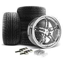 Mustang SVE Series 2 Wheel & Tire Kit - 19x9/10  - Chrome - Ohtsu Tires (15-18)