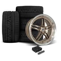 Mustang SVE Series 2 Wheel & Tire Kit - 20x8.5/10  - Satin Bronze - 275 Invo Tire (05-14)