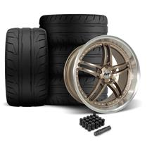 Mustang SVE Series 2 Wheel & Tire Kit - 20x8.5/10  - Satin Bronze - 305 NT05 Tire (05-14)