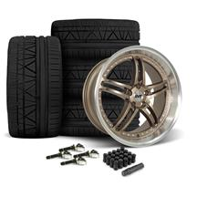 Mustang SVE Series 2 Wheel & Tire Kit - 20x8.5/10  - Satin Bronze - 275 Invo Tire (15-18)