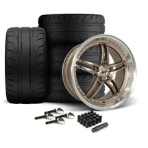 Mustang SVE Series 2 Wheel & Tire Kit - 20x8.5/10  - Satin Bronze - 275 NT05 Tire (15-19)