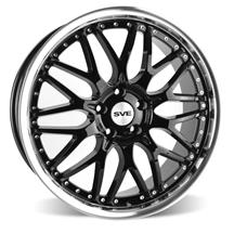 Mustang SVE Series 3 Wheel - 19x9  - Gloss Black w/ Machined Lip (05-18)