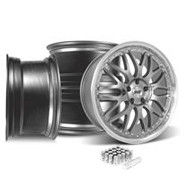 Mustang SVE Series 3 Wheel Kit - 19x9  - Gun Metal w/ Machined Lip (15-18)