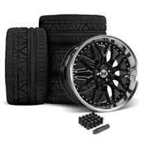 Mustang SVE Series 3 Wheel & Nitto Invo Tire Kit - 20x8.5/10 Gloss Black (05-14)