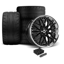 Mustang SVE Series 3 Wheel & Nitto NT05 Tire Kit - 20x8.5/10 Gloss Black (05-14)