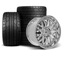 Mustang SVE Series 3 Wheel & Tire Kit - 18x9/10  - Chrome - NT555 G2 Tires (94-04)
