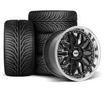 Mustang SVE Series 3 Wheel & Tire Kit - 18x9/10 Gloss Black (94-04)