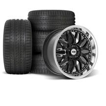 Mustang SVE Series 3 Wheel & Tire Kit - 18x9/10  - Gloss Black (94-04)