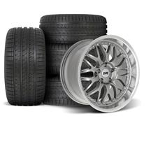 Mustang SVE Series 3 Wheel & Tire Kit - 18x9/10  - Gun Metal (94-04)