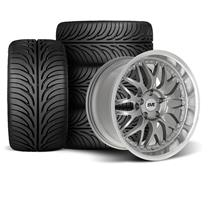 Mustang SVE Series 3 Wheel & Tire Kit - 18x9/10 Gun Metal (94-04)