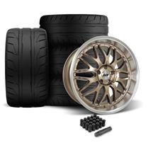Mustang SVE Series 3 Wheel & Tire Kit - 20x8.5/10  - Satin Bronze - 305 NT05 Tire (05-14)