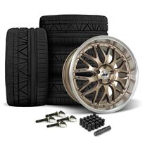 Mustang SVE Series 3 Wheel & Tire Kit - 20x8.5/10  - Satin Bronze - 275 Invo Tire (15-19)