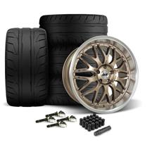 Mustang SVE Series 3 Wheel & Tire Kit - 20x8.5/10  - Satin Bronze - 275 NT05 Tire (15-20)