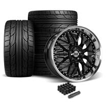 SVE Mustang Series 3 Wheel & Tire Kit - 20x8.5/10  - Gloss Black (05-14) Nitto NT555 G2