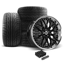 Mustang SVE Series 3 Wheel & Tire Kit - 20x8.5/10 Gloss Black (05-14)