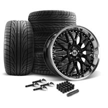 Mustang SVE Series 3 Wheel & Tire Kit - 20x8.5/10 Gloss Black (15-20)