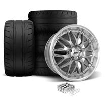 Mustang SVE Series 3 Wheel & Tire Kit - 20x8.5/10 Gun Metal (05-14)