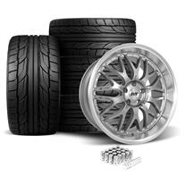 SVE Mustang Series 3 Wheel & Tire Kit - 20x8.5/10 Gun Metal (05-14) Nitto NT555 G2