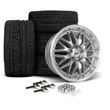Mustang SVE Series 3 Wheel & Tire Kit - 20x8.5/10 Gun Metal (15-19)