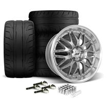 Mustang SVE Series 3 Wheel & Tire Kit - 20x8.5/10 Gun Metal (15-20)