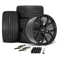 Mustang SVE SP2 Wheel & Tire Kit - 19x10/11  - Gloss Black - Cooper Tires (15-19)