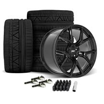 Mustang SVE SP2 Wheel & Tire Kit - 19x10/11  - Gloss Black - Invo Tires (15-19)