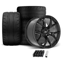 Mustang SVE SP2 Wheel & Tire Kit - 19x10/11  - Gloss Black - NT05 Tires (05-14)