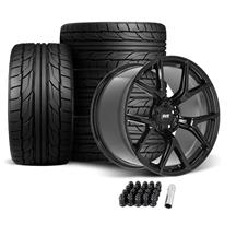 Mustang SVE SP2 Wheel & Tire Kit - 19x10/11  - Gloss Black - NT555 G2 Tires (05-14)