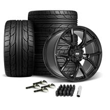 Mustang SVE SP2 Wheel & Tire Kit - 19x10/11  - Gloss Black - NT555 G2 Tires (15-20)