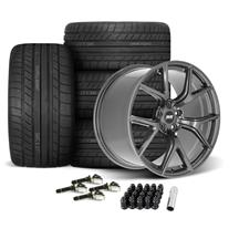 Mustang SVE SP2 Wheel & Tire Kit - 19x10/11  - Gloss Graphite - Cooper Tires (15-19)
