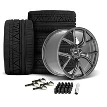 Mustang SVE SP2 Wheel & Tire Kit - 19x10/11  - Gloss Graphite - Invo Tires (15-19)