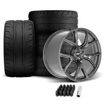 SVE Mustang SP2 Wheel & Tire Kit - 19x10/11  - Gloss Graphite (05-14) Nitto NT05
