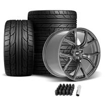 Mustang SVE SP2 Wheel & Tire Kit - 19x10/11  - Gloss Graphite - NT555 G2 Tires (05-14)