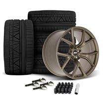 Mustang SVE SP2 Wheel & Tire Kit - 19x10/11  - Satin Bronze - Invo Tires (15-19)