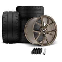 SVE Mustang SP2 Wheel & Tire Kit - 19x10/11  - Satin Bronze (05-14) Nitto NT05