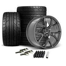Mustang SVE SP2 Wheel & Tire Kit - 19x10  - Gloss Graphite - NT555 G2 Tires (15-19)