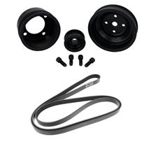 SVE  Mustang Underdrive Pulley & Gates Micro-V Belt Kit  Black (87-93) 5.0