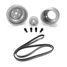 SVE Mustang Underdrive Pulley & Gates Micro-V Belt Kit  Clear Anodized (87-93)