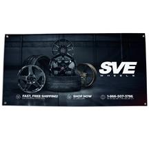 SVE Wheels Garage Banner - 2'x4'