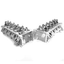 Mustang Trick Flow Track Heat Twisted Wedge 185 Cylinder Heads  - 38cc Chamber/125lb Springs (96...