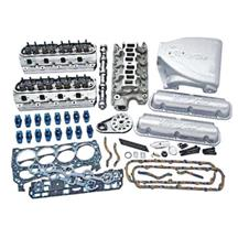 Mustang Trick Flow Top End Kit, w/ Track Heat Intake Silver (87-93) 5.0L