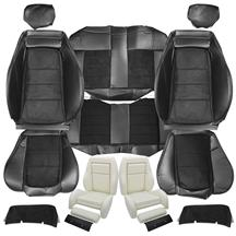 Mustang TMI 03-04 Cobra Seat Upholstery w/ Seat Foam Black Vinyl/Suede Inserts (90-91) Coupe
