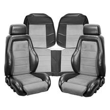 Mustang TMI 03-04 Cobra Style Upholstery with Seat Foam  - Black Vinyl/ Graphite Insert (87-89) ...