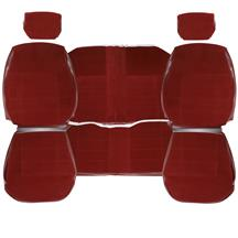 Mustang TMI Cloth Seat Upholstery - LX Standard Seats  - Ruby Red (1993) Coupe